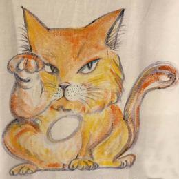 樹乃かに作品 手描きTシャツ まねきねこ