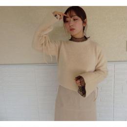 angora round neck knit
