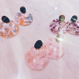 circle clear earrings