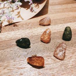 cut stone earrings