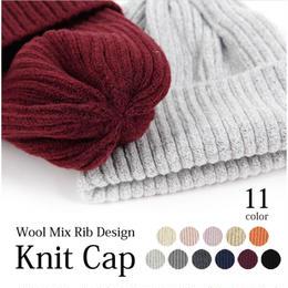 数量限定【11color】wool mix knit cap