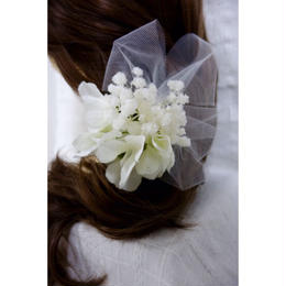 あじさいとかすみ草の髪飾り*チュールとUピン付き