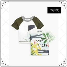 クロコダイル柄 半袖Tシャツ2枚セット  (3~24か月)