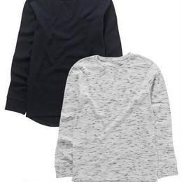 長袖トップス 2 枚セット (7~12歳)ネイビー / グレー