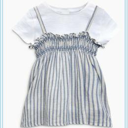 ストライプキャミソール&Tシャツセットー (3~24か月)