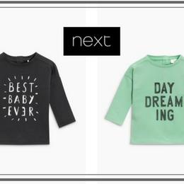 Tシャツ (0~24か月)チャコール/グリーン