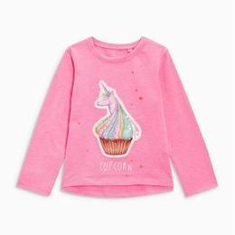 カップコーン柄 Tシャツ (3~24か月) ピンク
