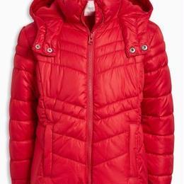 ショート丈 パッド入りジャケット (3~6歳)  レッド