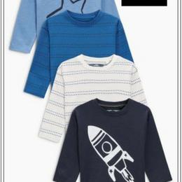 ライナー&宇宙モチーフ入り長袖Tシャツ 4 枚セット  (2~6歳)