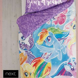 My Little Pony マーメイド ベッドリネンセット  シングルサイズ 掛×枕カバー