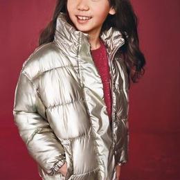 パッド入りジャケット   (7~12 歳) ゴールドメタリック