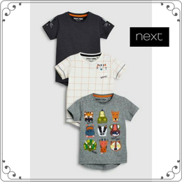 半袖 キャラクター柄 Tシャツ 3 枚組 (3か月~6歳)