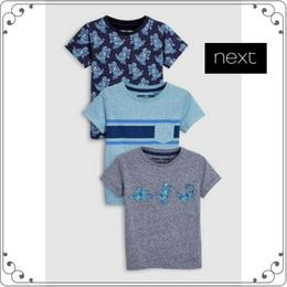 ディノ 半袖 Tシャツ 3 枚パック (3か月~6歳) ブルー