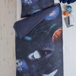 スペースアドベンチャー デジタルプリント シングルサイズ 掛×枕カバー