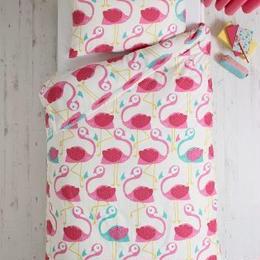 Fun Felicity フラミンゴ  シングルサイズ 掛×枕カバー