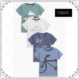 刺繍入り 半袖 Tシャツ 4 枚セット  (3~24か月)
