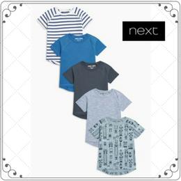 Tシャツ 5枚セット  (2~6歳)ブルーストライプクルマ