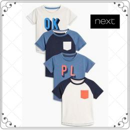 半袖 スローガン入り Tシャツ 4枚セット(2~6歳)