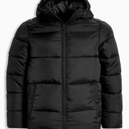 パッド入りジャケット (7~12 歳) ブラック