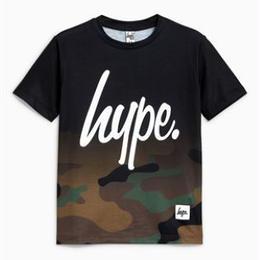 Hype迷彩柄フェード加工Tシャツ(3歳~12歳)