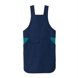 【Natural Smaile】H TYPE APRON(Navy×Turquoise)/H型胸当てエプロン(ネイビー×ターコイズ)