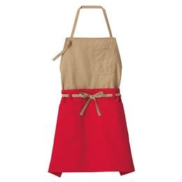 【Natural Smaile】2WAY APRON(Mocha×Red)/2ウェイエプロン(モカ×レッド)