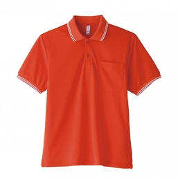【Natural Smaile】UNISEX POLO SHIRT(Orange)/ポロシャツ ユニセックス(オレンジ)