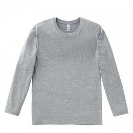 【Natural Smaile】LONG T-SHIRT(Heather Gray)/3.8 オンスユーロロング Tシャツ(杢グレー)