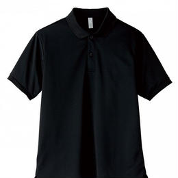 【Natural Smaile】UNISEX POLO SHIRT(Black)/ポロシャツ ユニセックス(ブラック)