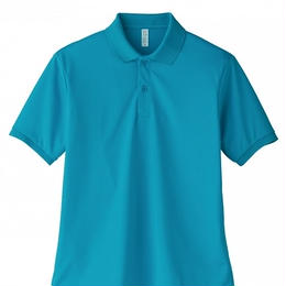 【Natural Smaile】UNISEX POLO SHIRT(Turquoise)/ポロシャツ ユニセックス(ターコイズ)