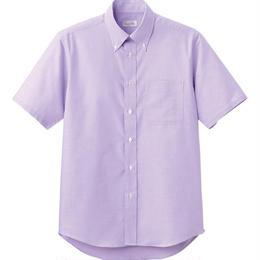 【Natural Smaile】CASUAL SHIRT(Purple)/オックスフォード半袖シャツ(パープル)