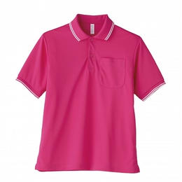 【Natural Smaile】UNISEX POLO SHIRT(Shocking Pink)/ポロシャツ ユニセックス(ショッキングピンク)