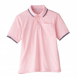 【Natural Smaile】UNISEX POLO SHIRT(Light Pink)/ポロシャツ ユニセックス(ライトピンク)