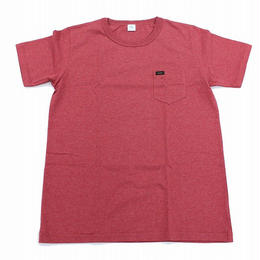 【Lee】PACK POCKET T(Heather Red)/パックポケットティーシャツ(杢レッド)