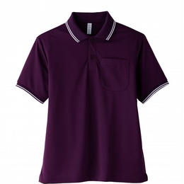 【Natural Smaile】UNISEX POLO SHIRT(Deep Purple)/ポロシャツ ユニセックス(ディープパープル)