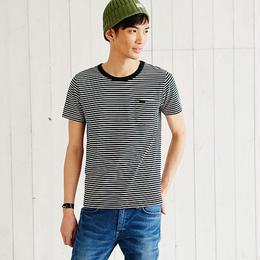 【Lee】PACK POCKET T(Border Black)/パックポケットティーシャツ(ボーダーブラック)