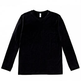 【Natural Smaile】LONG T-SHIRT(Black)/3.8オンス ユーロロングTシャツ(ブラック)
