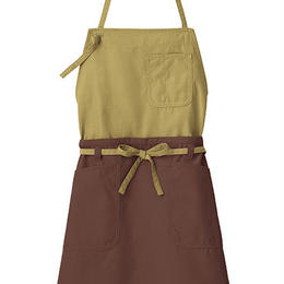 【Natural Smaile】2WAY APRON(Moss Green×Brown)/2ウェイエプロン(モスグリーン×ブラウン)