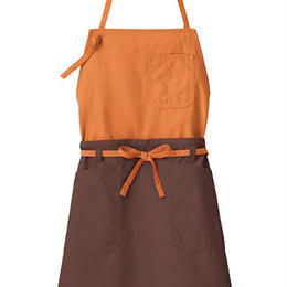 【Natural Smaile】2WAY APRON(Orange×Brown)/2ウェイエプロン(オレンジ×ブラウン)