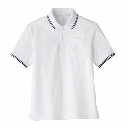 【Natural Smaile】UNISEX POLO SHIRT(White)/ポロシャツ ユニセックス(ホワイト)