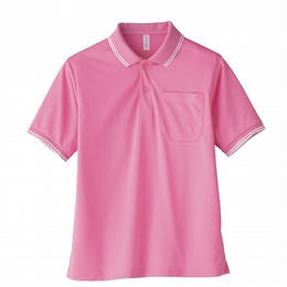 【Natural Smaile】UNISEX POLO SHIRT(Pink)/ポロシャツ ユニセックス(ピンク)