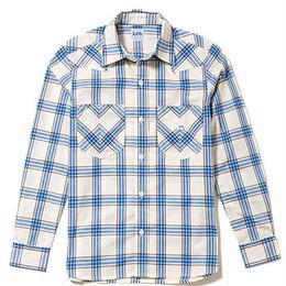【Lee】MENS WESTERN CHECK SHIRTS(Blue)/メンズ ウエスタン チェック長袖シャツ(ブルー)