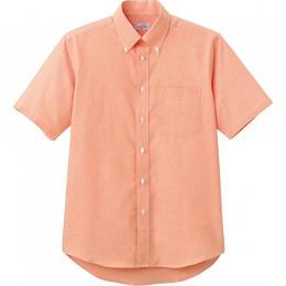【Natural Smaile】CASUAL SHIRT(Orange)/オックスフォード半袖シャツ(オレンジ)