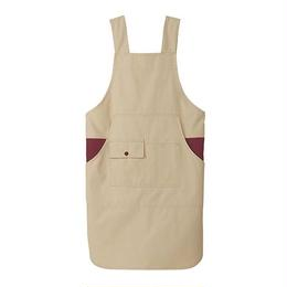 【Natural Smaile】H TYPE APRON(Beige×Burgundy)/H型胸当てエプロン(ベージュ×ワイン)