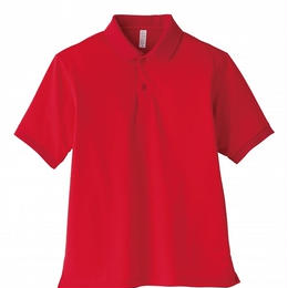 【Natural Smaile】UNISEX POLO SHIRT(Red)/ポロシャツ ユニセックス(レッド)