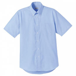 【Natural Smaile】CASUAL SHIRT(Blue)/オックスフォード半袖シャツ(ブルー)