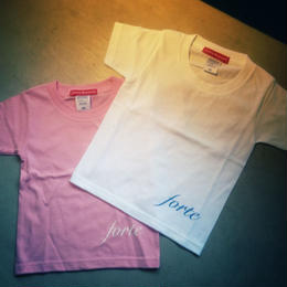 forte Kids T-shirts (White / Pink) - General Price
