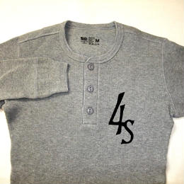 THERMAL SHIRTS (Henly neck) gray  Sサイズ