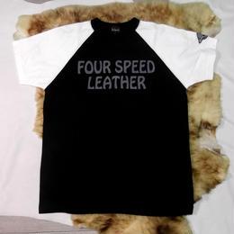 ラグランスリーブTシャツ サンプル製品 Black×White L/1着 TS-101