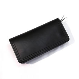 CowHide  Wallet  Black Leather×Brack Stitch